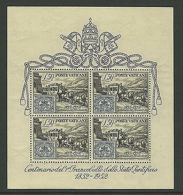 1952 VATICAN CITY CENTENARY 1st PAPAL STATES STAMP SUPERB UNMOUNTED MINT SG 176a
