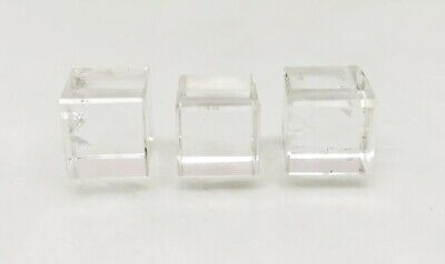 Three (3) Crystal Quartz Cube Platonic Solids Sacred Geometry Crystal Cubes