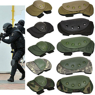AU Military Knee Elbow Protector Tactical Combat Protective Pads Set Gear Sports