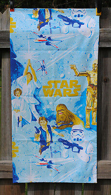Star Wars King Pillow Case Luke Vader Leia Han Solo C3PO R2D2 Chewbacca