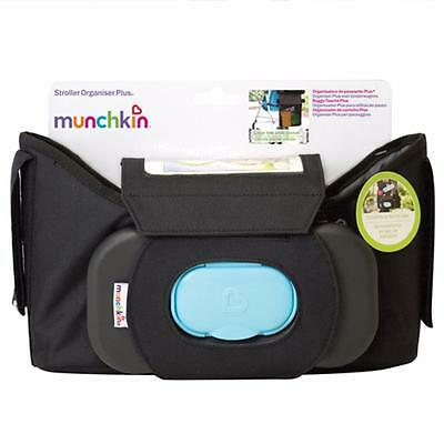 Munchkin Stroller Organiser Plus with Touch Sensitive Phone Pocket & Wipes Case
