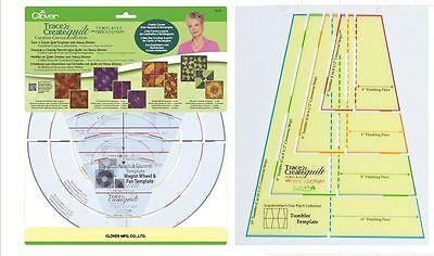 Clover Trace'n Create Quilt Curves 9578 9525 Templates with Nancy Zieman