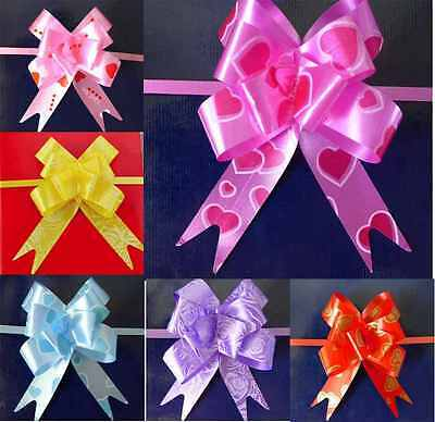 50 Large Pull Bow Ribbons All Mix Colours for any occasions gift wrap ribbons pa