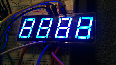 LED Display 7 Segment 4 Digit 0.56 inch Common Anode Hi Blue