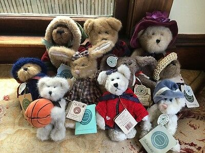 Lot Of 11 Boyds Bears Plush Toys With Original Tags