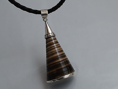 Bali Spider Shell Necklace set in .925 Sterling Silver