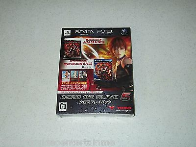 Dead Or Alive 5 Cross Play Pack Sony PS Vita & Sony PS3 Japan Import FREE SHIP
