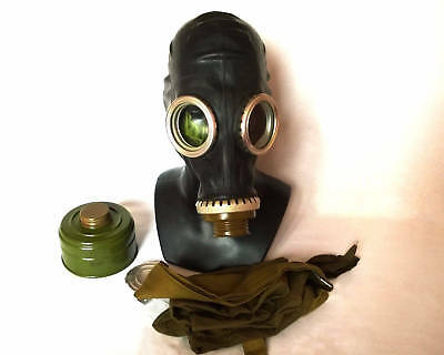 Russian GP5 black gas mask with hose -Size 0 1 with full set