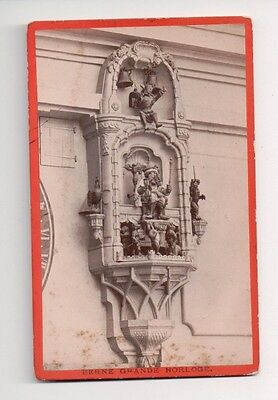 Vintage CDV The Zytglogge Grand Horloge Bern Switzerland M. Vollenweider Photo