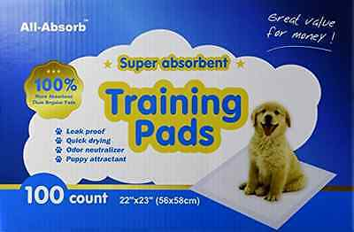 Pet Dog Training Pads Pad Puppy Absorb Wee Pee Absorbent 22 by 23 inch 100 count