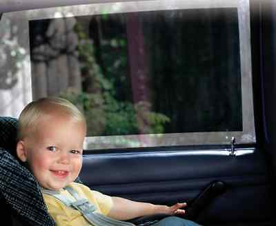 Baby Car Seat On Board Sunshade UV Protect Safe 2pc Window Fit Vinyl Shade .