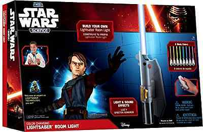 Star Wars Jedi Lightsaber Remote Control Build-in Kids Light Wall Mounted Lamp .