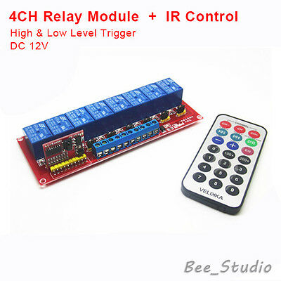 12V 8 CH Channel IR Infrared Remote Control Switch Relay Module Board Arduino 51