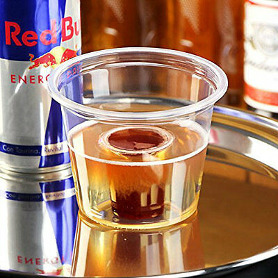 50 Reusable Jagerbomp Bomb Shot Clear Glasses CE Cups For Red Bull Jagermeister