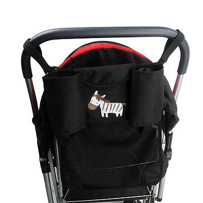Travel Stroller Organizer Net Cup Holder Buggy Pram Diaper Storage Bag+Pocket