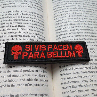 Si Vis Pacem Punisher Usa Army Patches Tactical  Hook & Loop Morale Patch