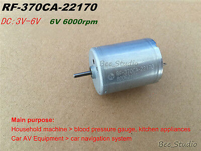 MABUCHI RF-370CA-22170 DC 6V Silent Motor Metal Carbon Brush Motor For Tonometer