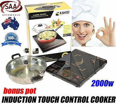 BRAND NEW Kavido Magic touch Induction cooker cooktop Portable Electric FREE POT