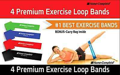 Resistance Loop Bands Best Exercise Set of 4 Strength Performance Theraband .