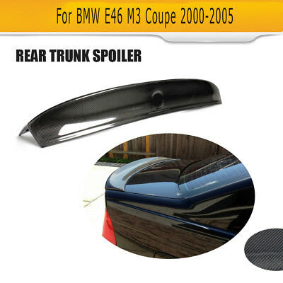 Carbon Fiber Trunk Lid Spoiler C Style Bigger Wing Lip for BMW M3 E46 Coupe