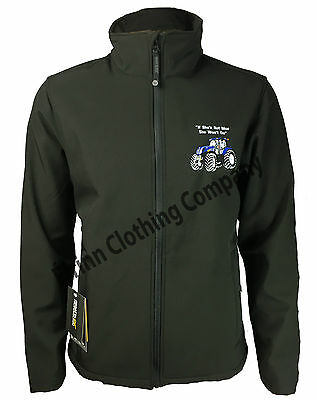 New Holland Tractor Regatta Full Zip Soft Shell Jacket with Embroidered Logo