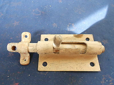 Old french Sliding Door Latch Lock Bolt with its keeper