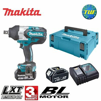 Makita DTW1001RTJ 18V BRUSHLESS High Torque 3/4in Impact Wrench 2x 5.0Ah Li-ion