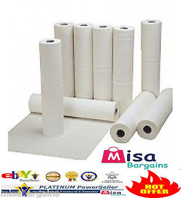 "4 x Hygiene Couch Bed Paper Roll Tissue White 20"" rolls 40m perforated 2Ply"