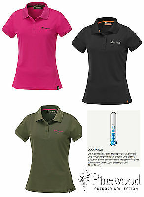 "Damen Polo Shirt Pique - Pinewood "" Ramsey "", Coolmax"