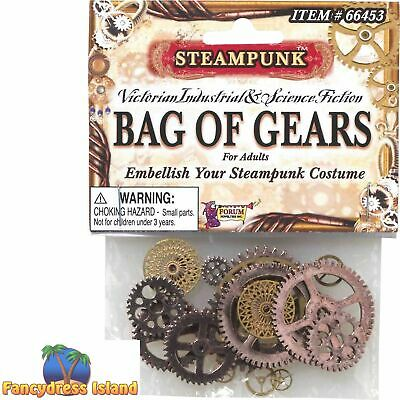 STEAMPUNK GEARS OLD VICTORIAN EMBELLISHMENTS - fancy dress costume accessory