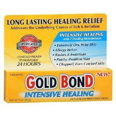 1oz Gold Bond Intensive Healing Cream Anti-Itch/Skin Protectant Dry Skin Allergy
