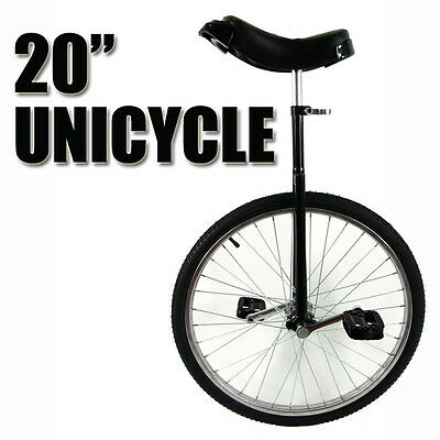 "Black 20"" Unicycle Fitness Pro Fun Uni Cycle Scooter Circus Bike Youth Kids"