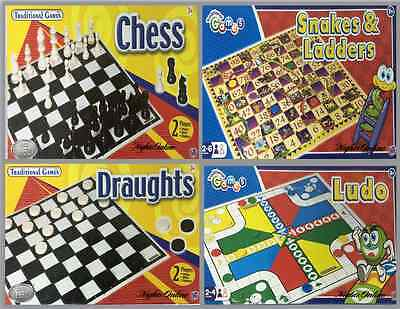 Board Games, Chess, Draughts, Ludo, Snakes & Ladders For Kids, Family & Friends