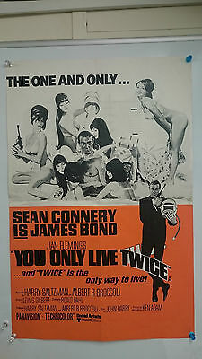 James Bond You Only Live Twice Original Double Crown  Movie Film Poster 1967