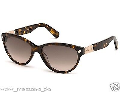 DSQUARED, DSQUARED2 Luxus Sonnenbrille DQ 0147 S 55F animal print OVP 209€ 3be710730096