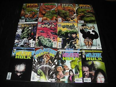 Wolverine Hulk 1 - 4 2 3  Banner 1 - 4 2 3  Hulk Thing Hard Knocks 1 - 4 2 3 New