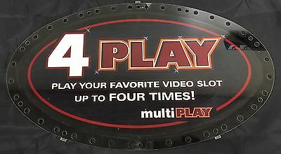 "Slot Machine Topper Insert "" 4 Play """