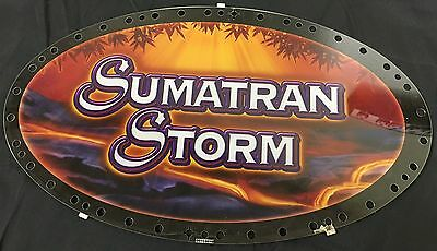 "Slot Machine Topper Insert "" Sumatran Storm """
