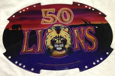 "Slot Machine Topper Insert "" 50 Lions """