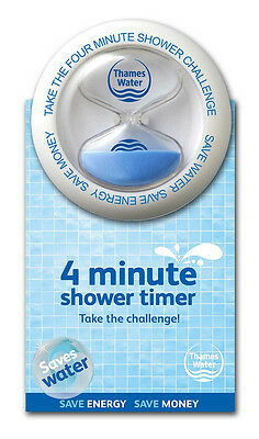 ShowerBob 4 Minute Shower Timer (Blue/Pink) - GorillaSpoke, Free P&P Worldwide!