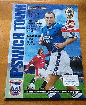 Ipswich Town V Manchester United League Cup 14/10/1997