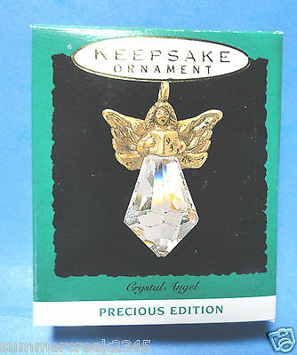 "Hallmark ""Crystal Angel"" Miniature Ornament 1993"