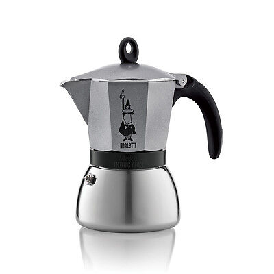 Bialetti - Cafetiere Moka Induction 3 Tasses Anthracite