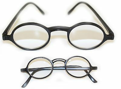 8493341350968 High Power Reading Glasses Round Frame Matte Black Extra Strong +4.50  Strength