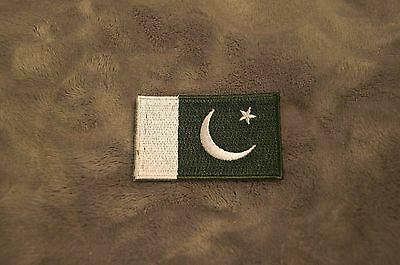 Patch Country Flag Sew On Iron On Jacket Shirt or Pants Pakistan Color