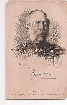 Vintage Postcard King Albert of Saxony