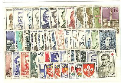 Timbres France Neufs ** Luxe Annee 1958 . 47 Timbres