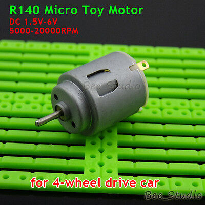 DC 3V-6V 5V R140 Mini Motor 2mm shaft for Four-wheel Drive Car Toy Car Boat DIY