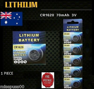 CR1620 3V LITHIUM Coin Button Cell Battery - AU & SA Seller - Fast Postage