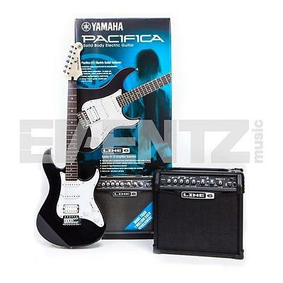 Yamaha Pacifica 012 Black & Line6 Spider IV 15 electric guitar package pack